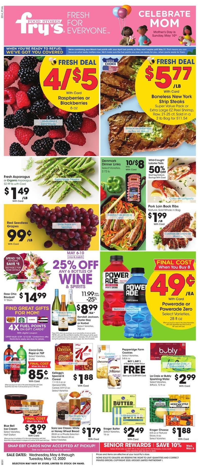 frys weekly ad may 6 2020