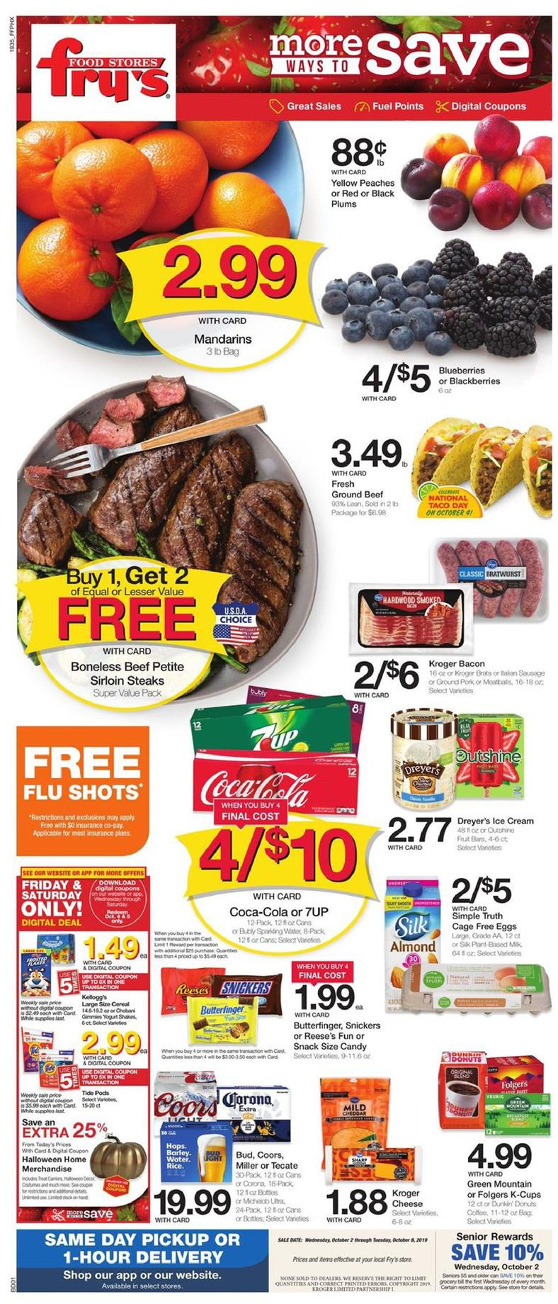 frys weekly ad oct 2 2019