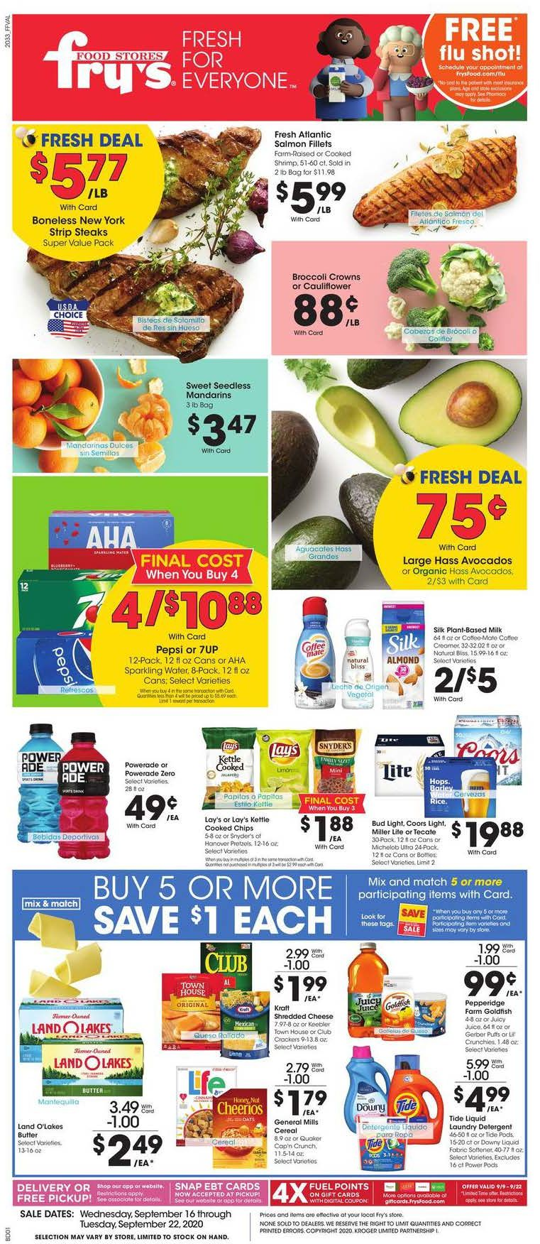 frys weekly september ad valid from sep 16 sep 22 2020