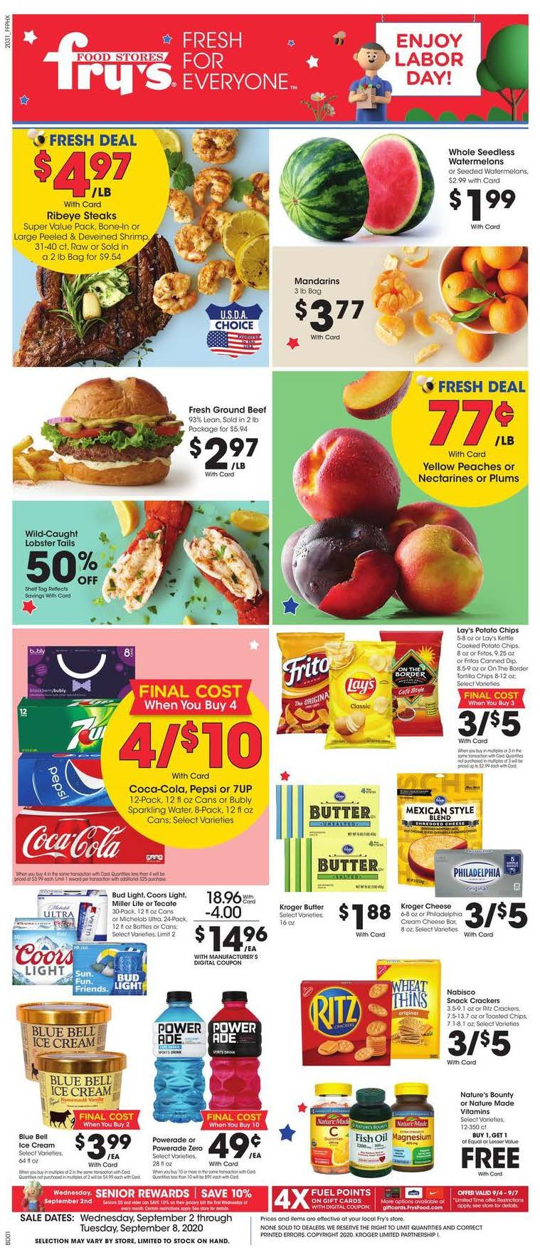 frys weekly ad sep 2 2020