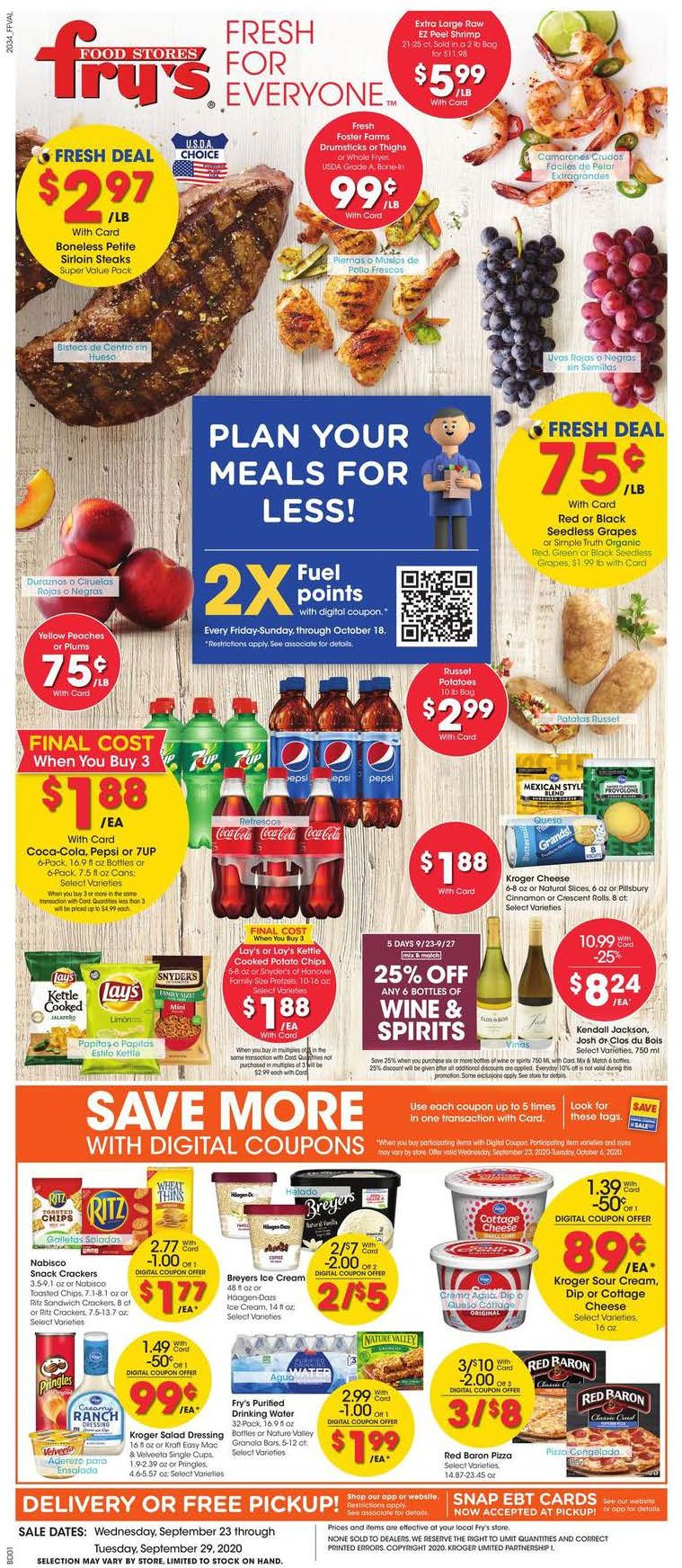 frys weekly ad sep 23 2020