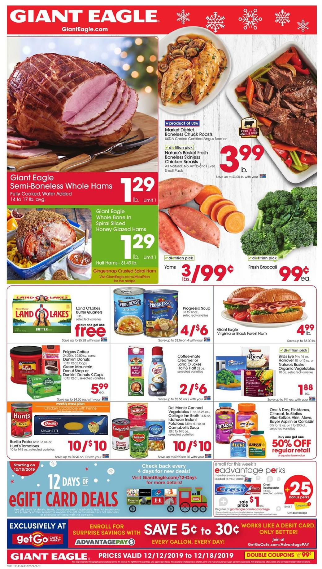 giant eagle mid december weekly ad valid from dec 12 18 2019