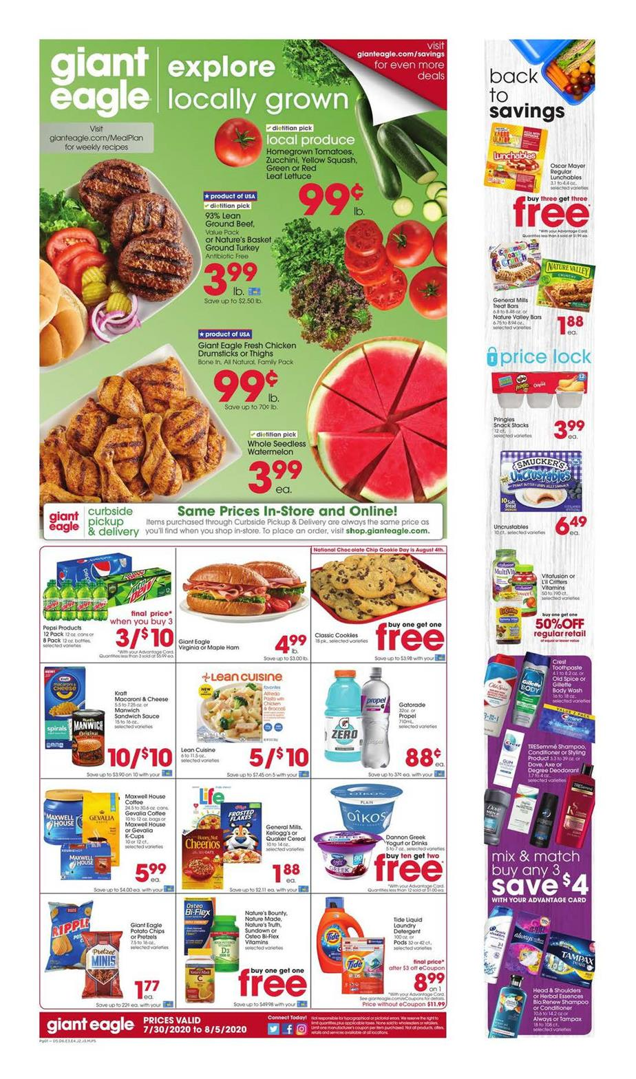 giant eagle august weekly ad valid from jul 30 aug 5 2020