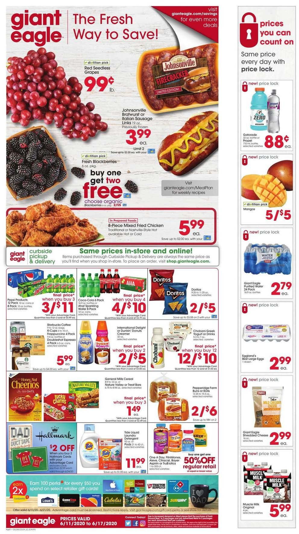 giant eagle mid june weekly ad valid from jun 11 17 2020