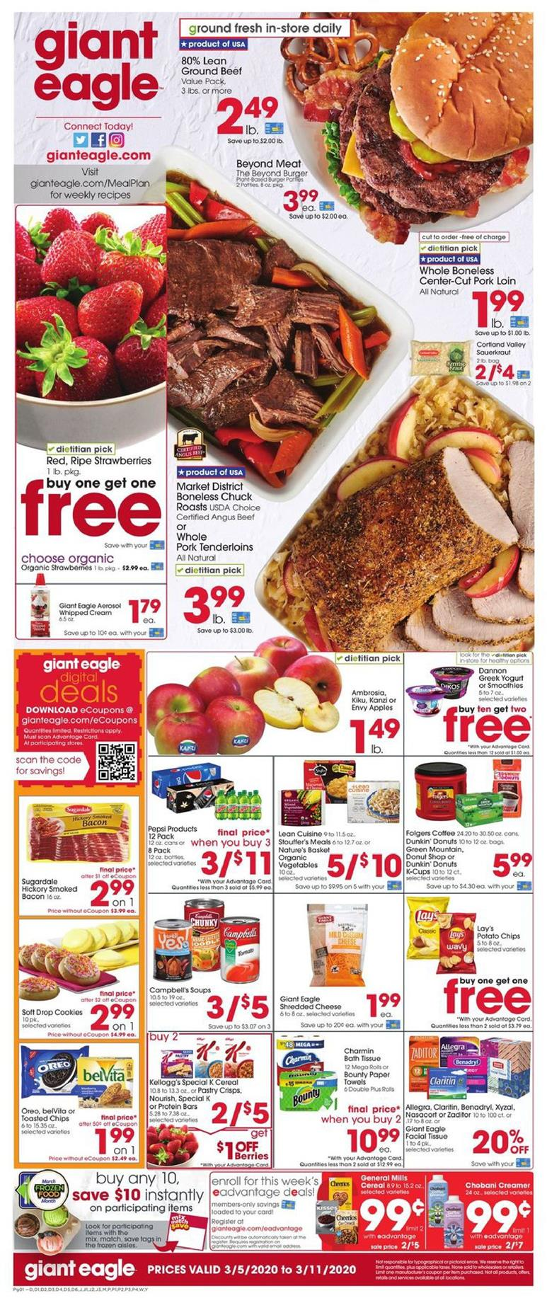 giant eagle march weekly ad valid from mar 5 11 2020