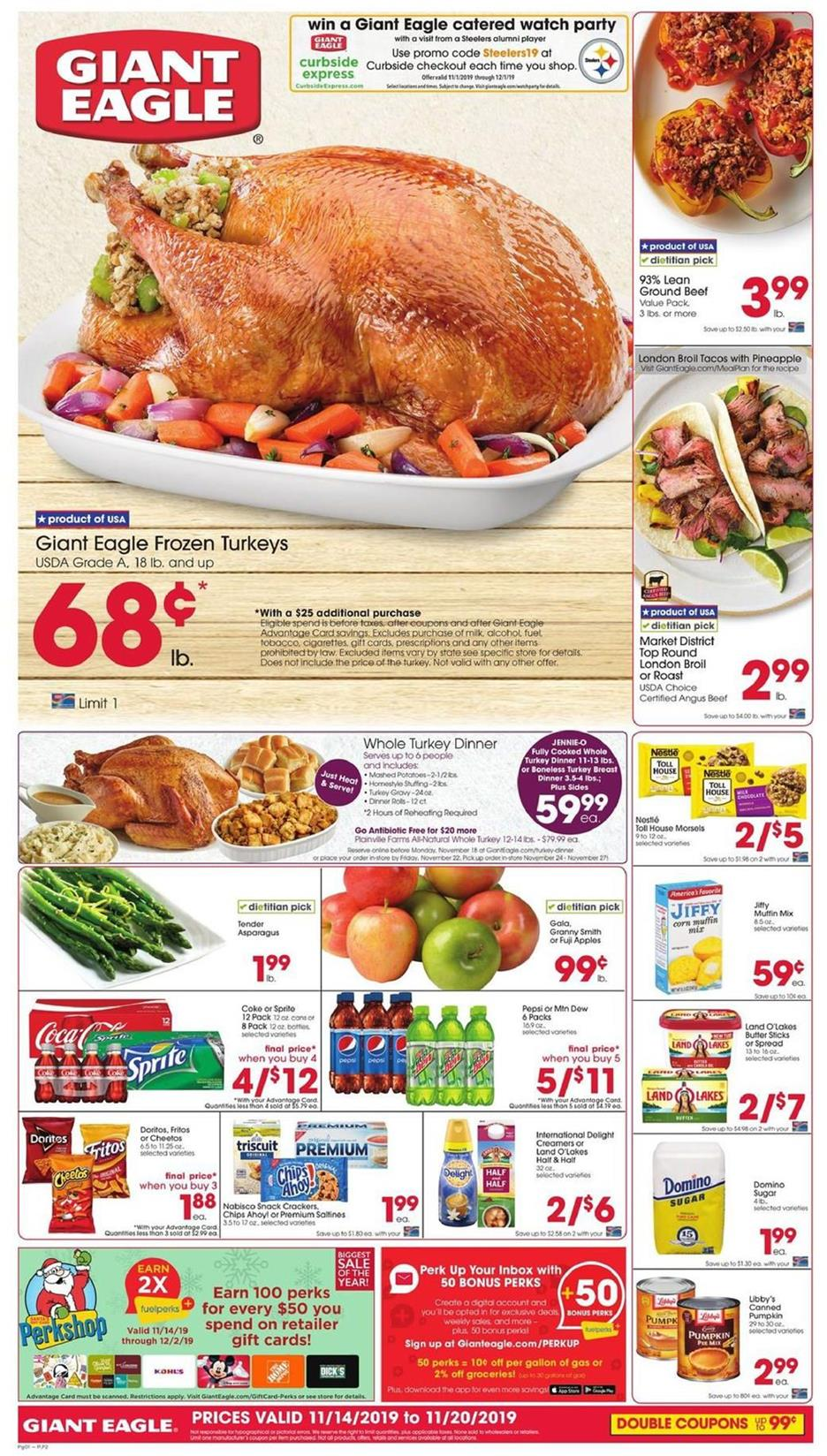 giant eagle thanksgiving food ad valid from nov 13 19 2019