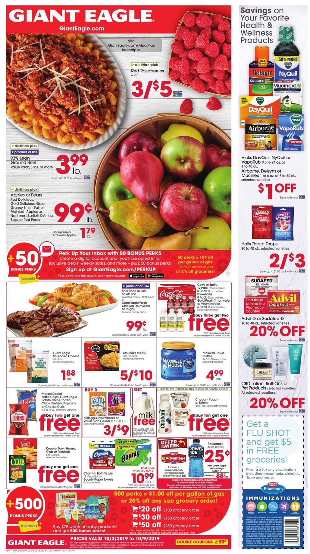 buy more and spend less with giant eagle ad oct 3 9 2019