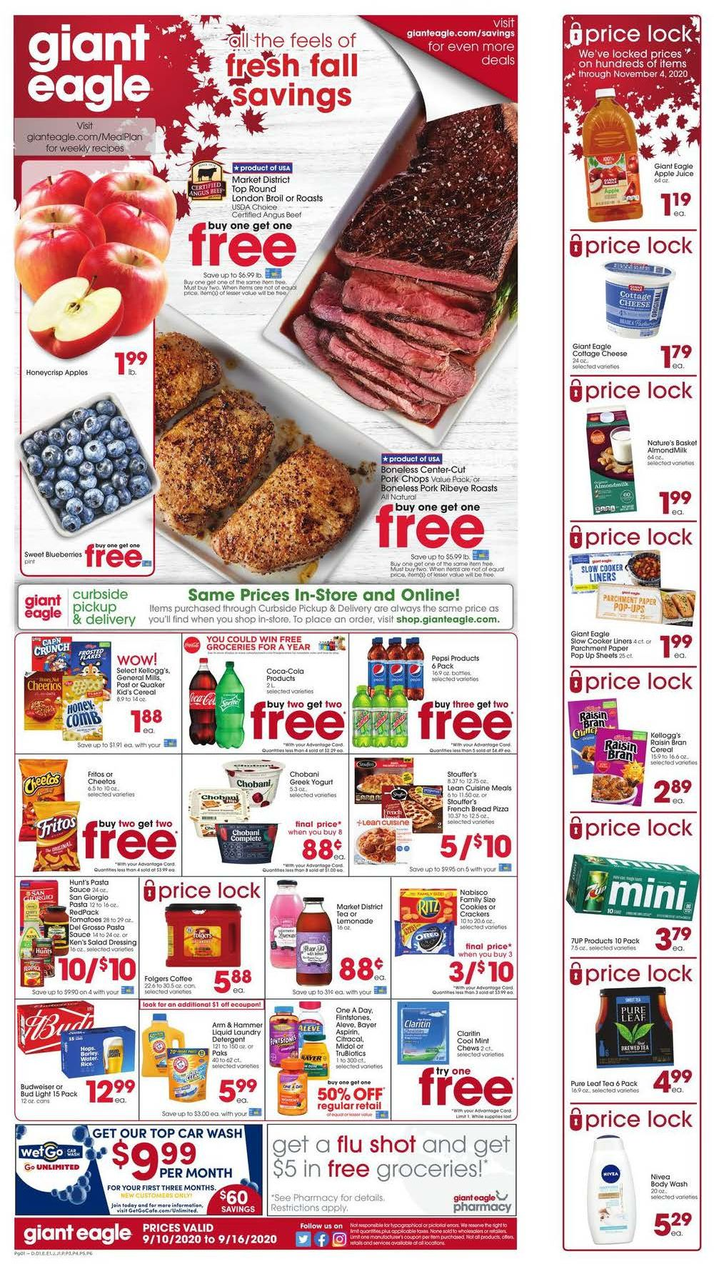 giant eagle mid september weekly ad valid from sep 10 16 2020