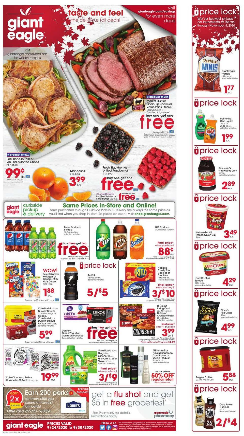 giant eagle final weekly september ad valid from sep 24 30 2020