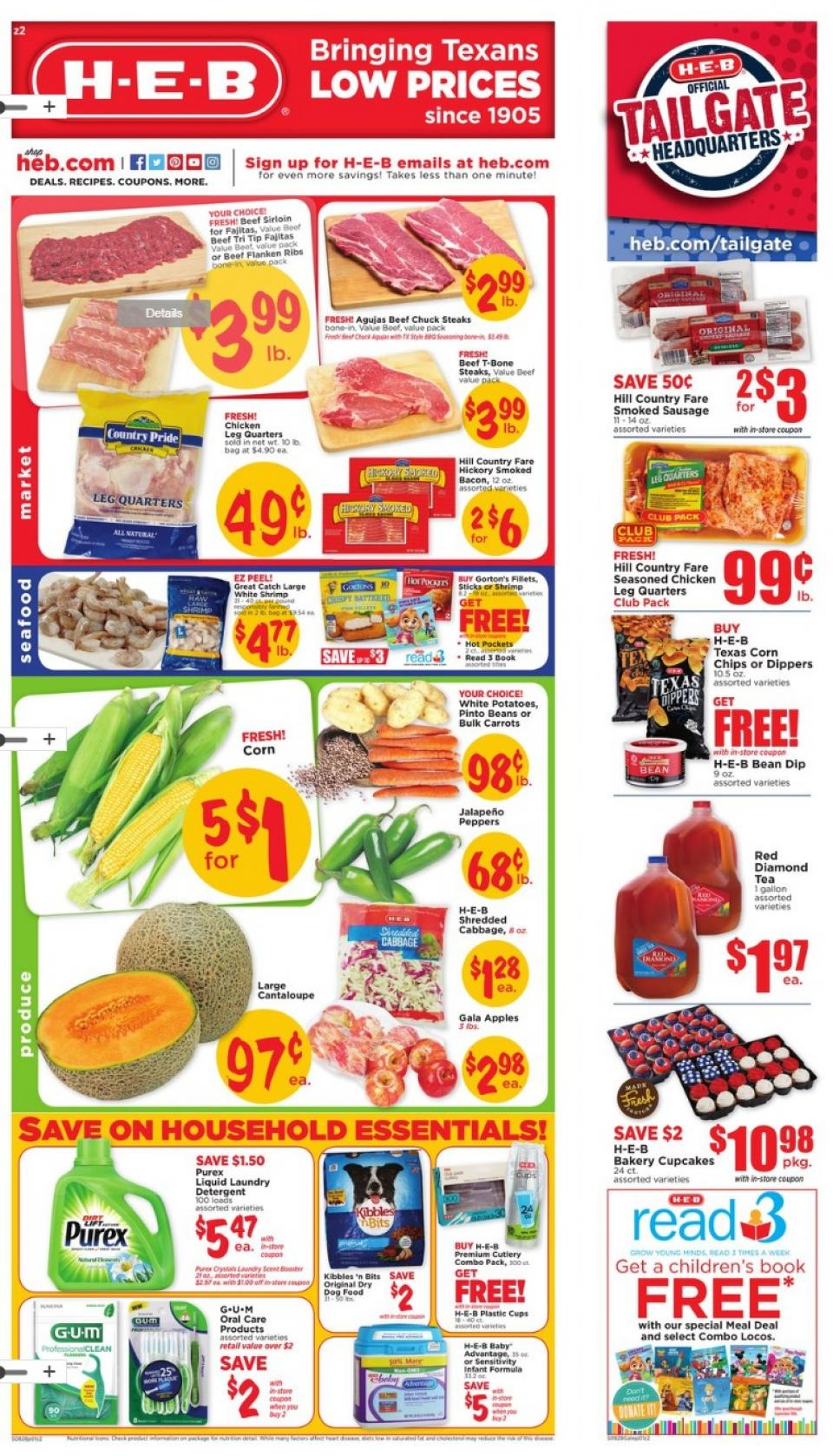 heb weekly ad aug 28 sep 3 2019