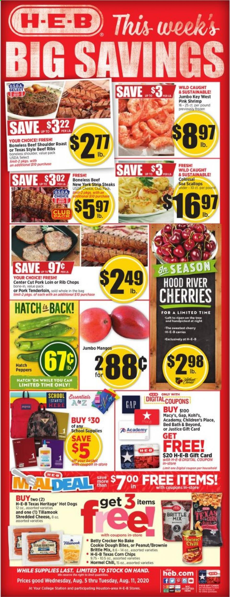 heb august weekly ad valid from aug 5 11 2020