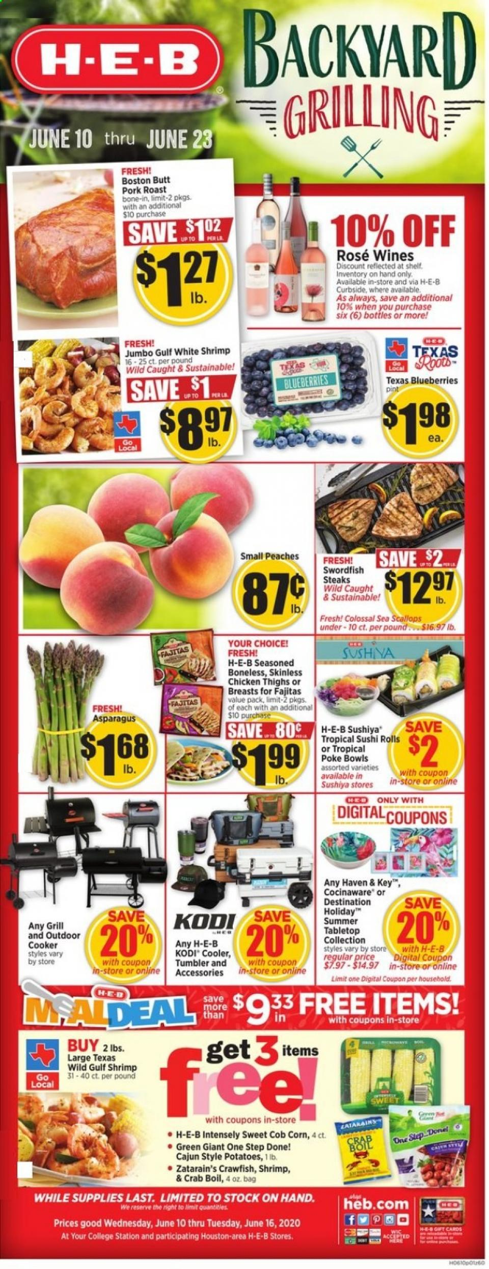 HEB Backyard Grilling June Weekly Ad valid from Jun 10 – 16, 2020