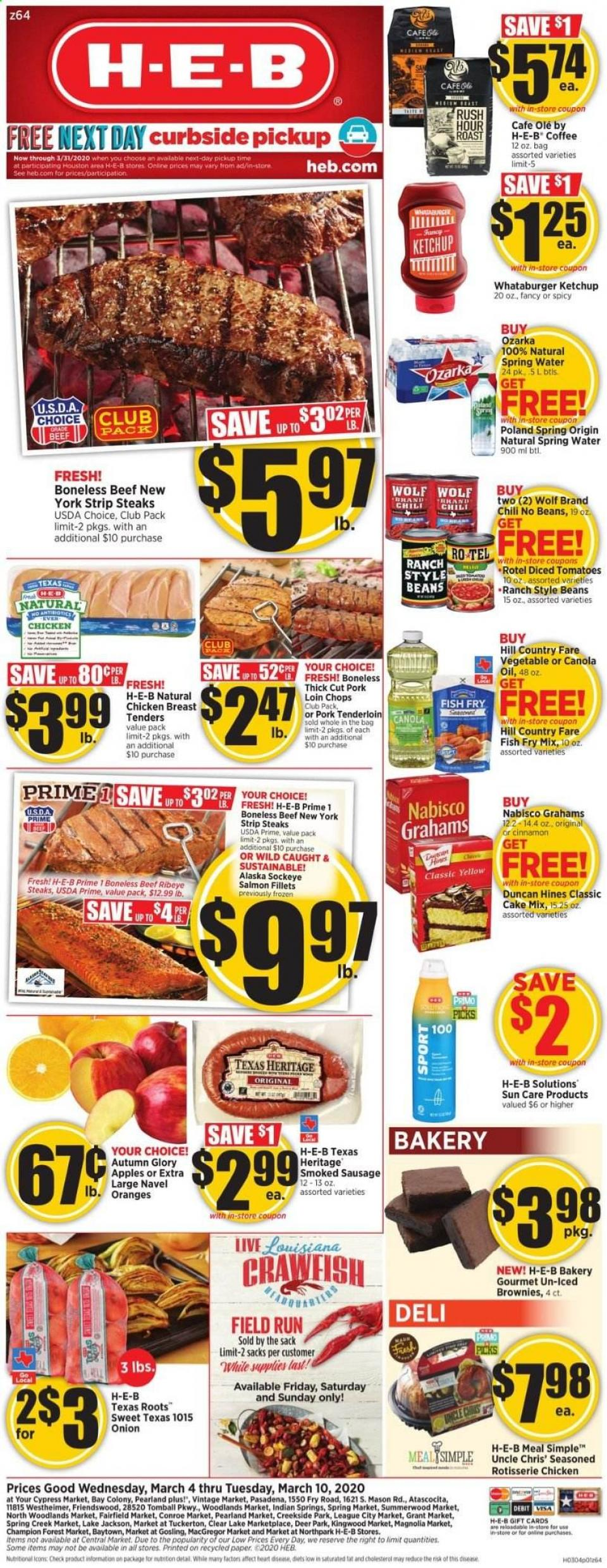 HEB March Weekly Ad valid from Mar 4 – 10, 2020.