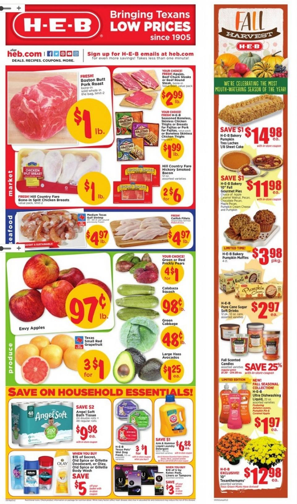 Heb Weekly Ad Oct 16 22 2019 Groceries And Household