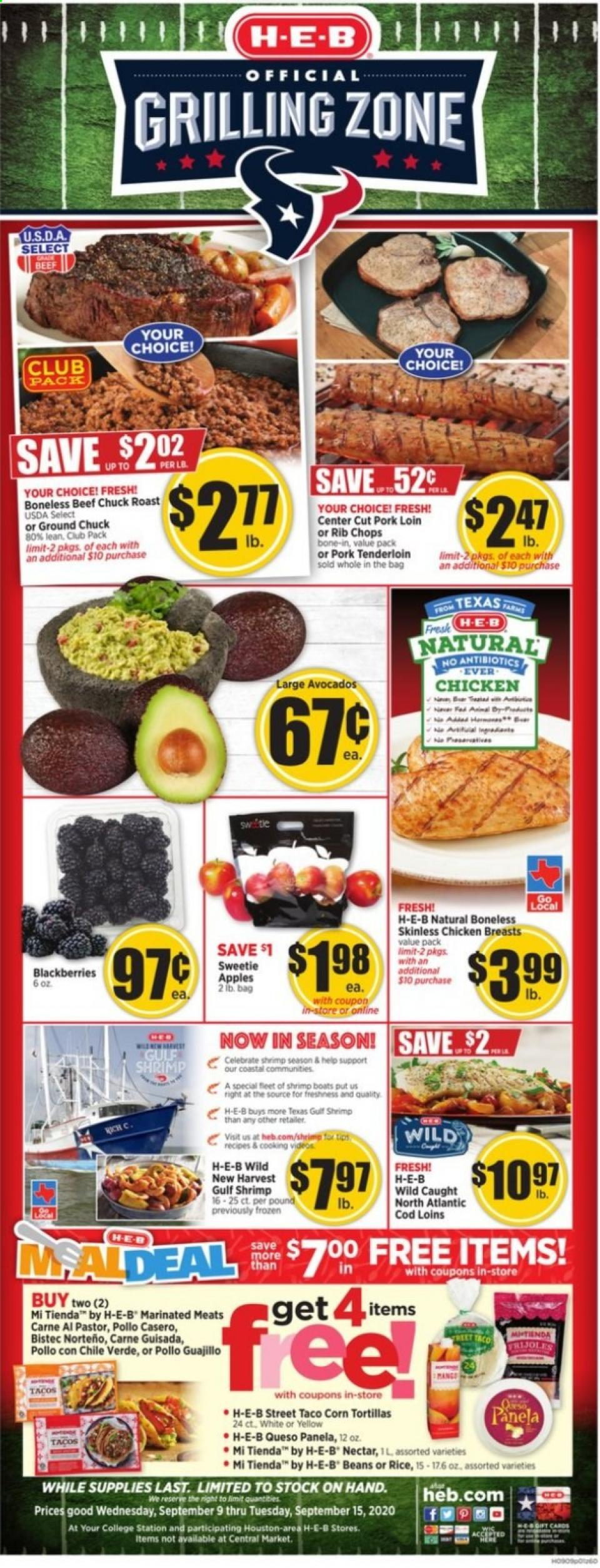 HEB Weekly September Ad valid from Sep 9 – 15, 2020