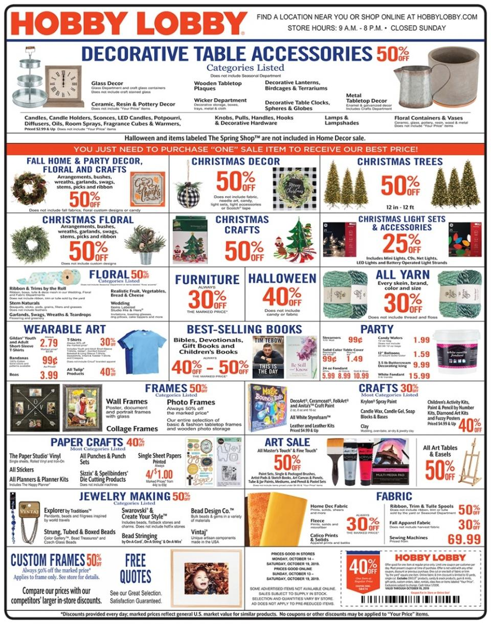 hobby lobby weekly ad oct 13 19 2019