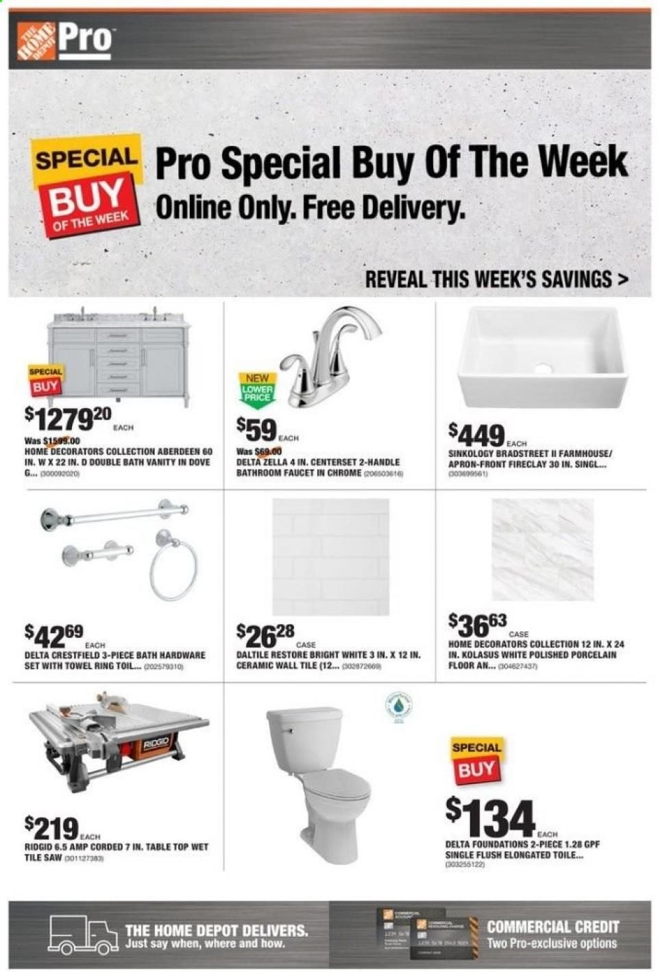 Home Depot March Discounts Ad valid from Mar 16 – 23, 2020.