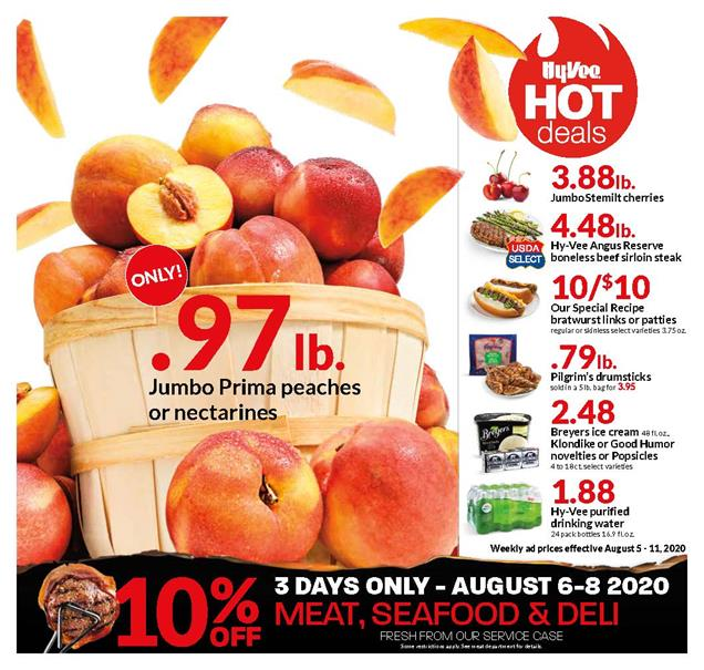 Hyvee Mid-August Weekly Ad valid from Aug 5 – 11, 2020