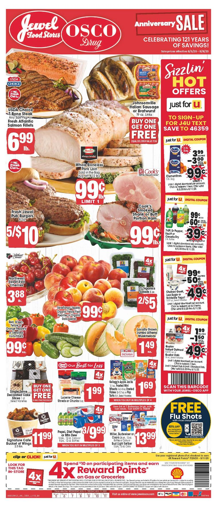 Jewel-Osco August Weekly Ad valid from Aug 5 – 11, 2020