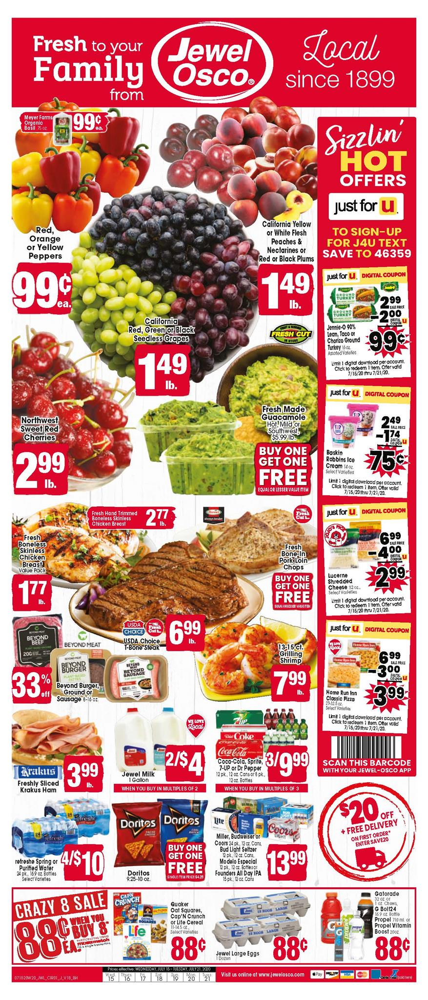 jewel osco mid july weekly ad valid from jul 15 21 2020