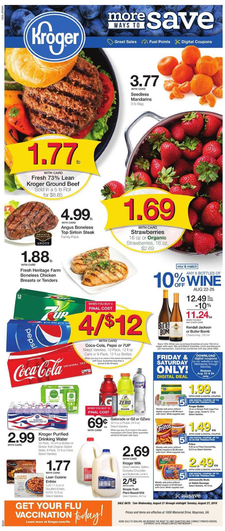 kroger weekly ad aug 21 2019