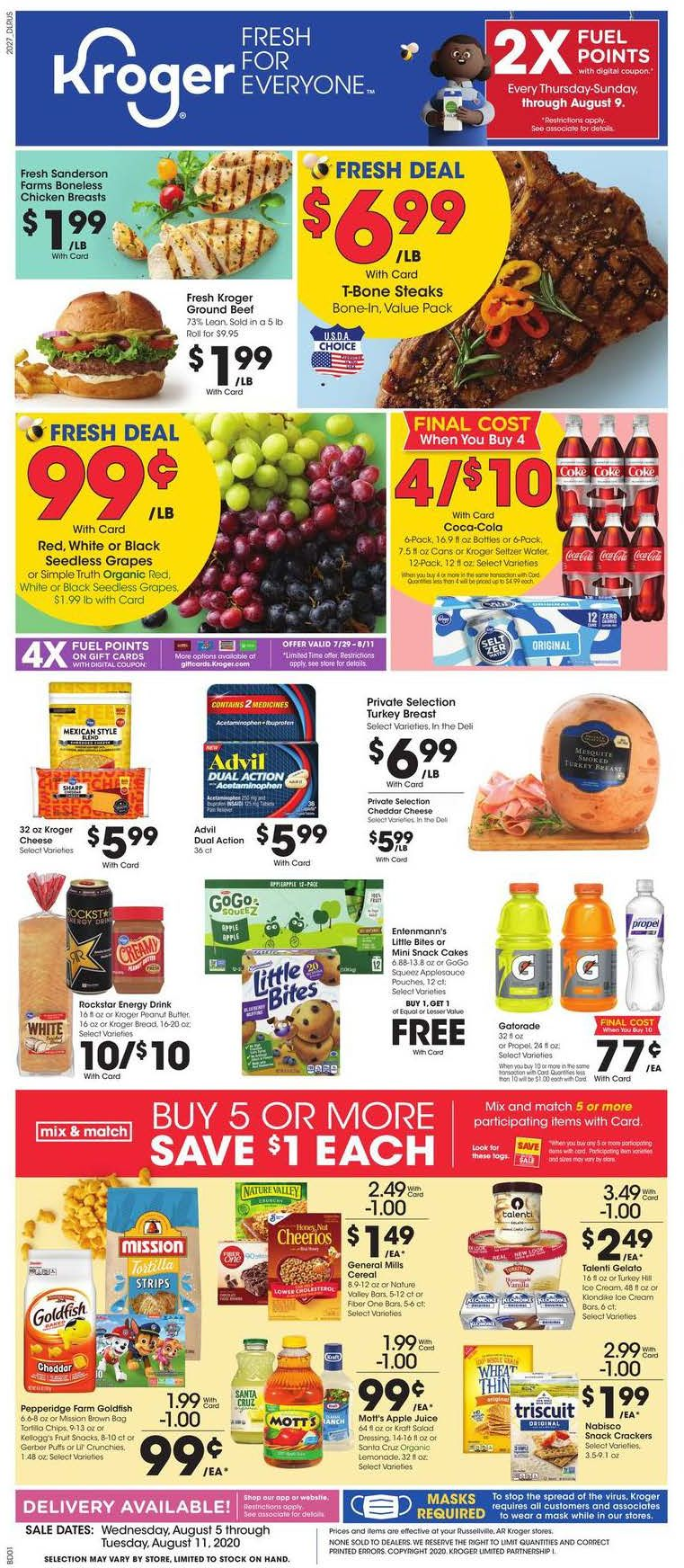 kroger august weekly ad valid from aug 5 11 2020