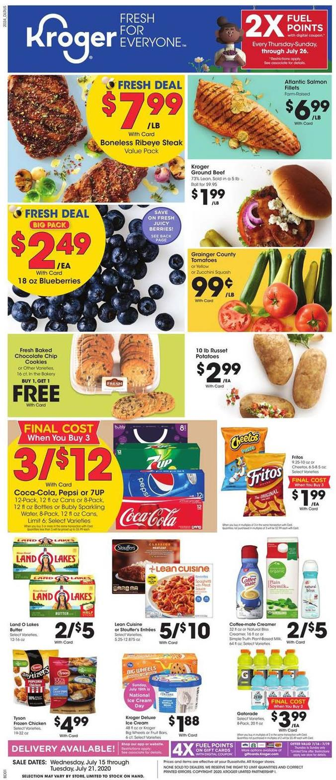 kroger mid july weekly ad valid from jul 15 21 2020