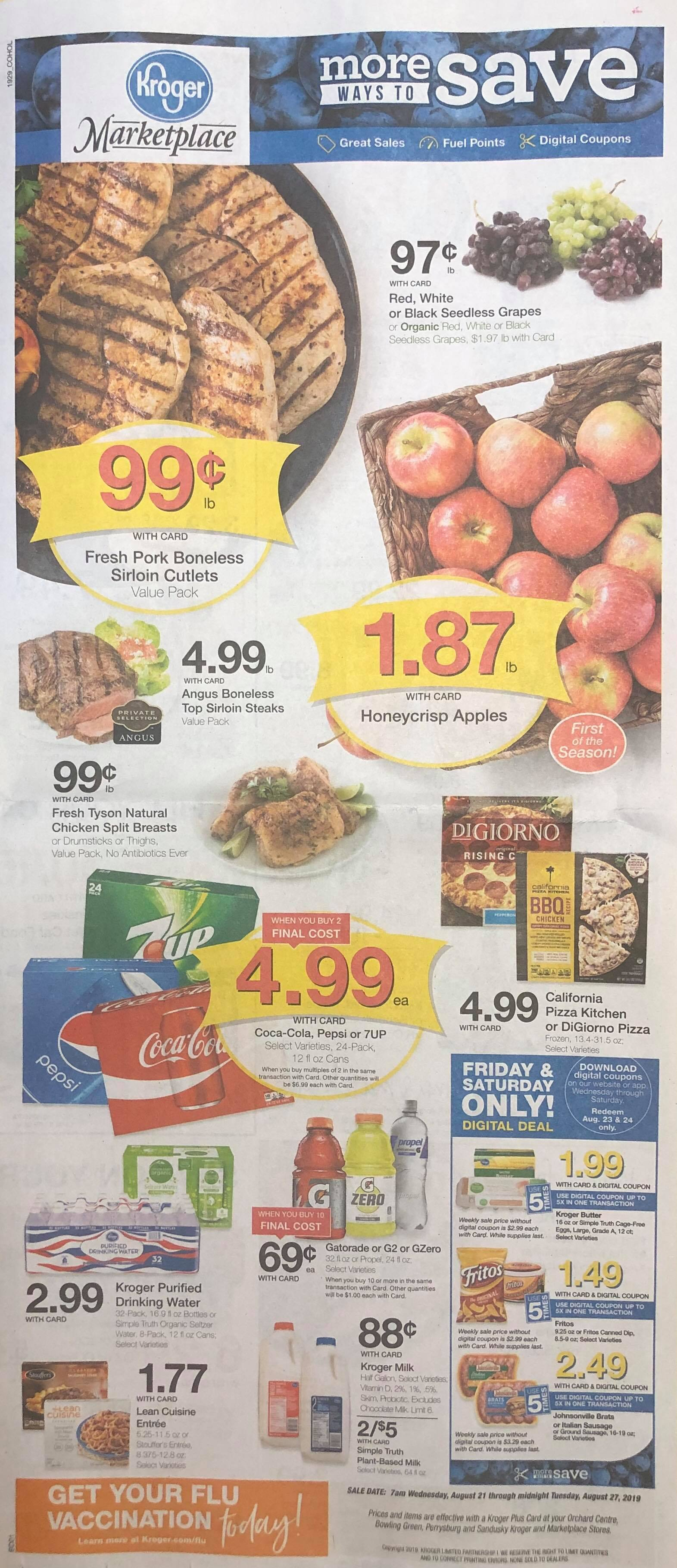 kroger weekly ad preview aug 21 2019