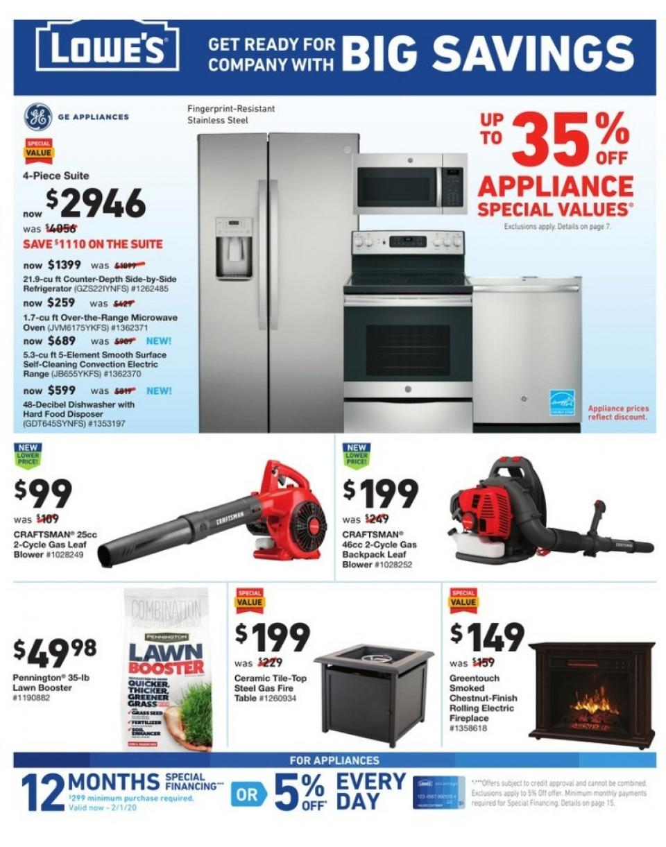 home appliance sale with lowes ad oct 10 16 2019