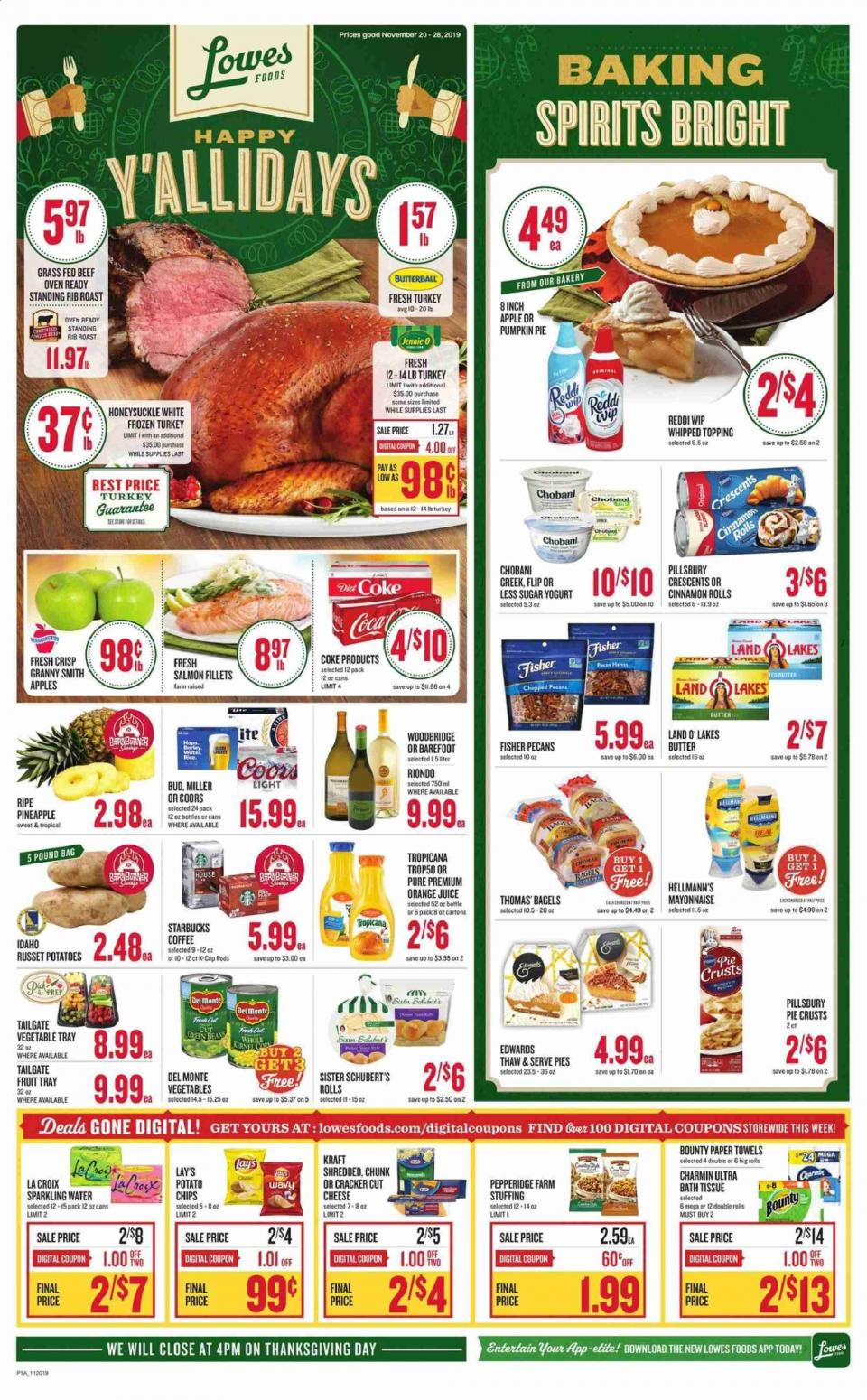 lowes thanksgiving food ad valid from nov 20 28 2019