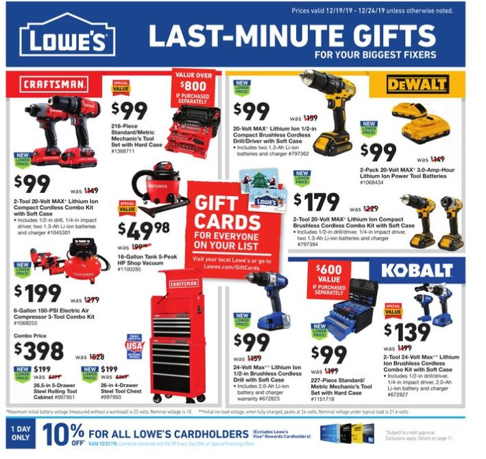 lowes ad dec 19 2019