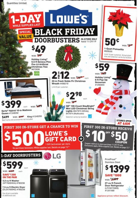 lowes holiday offer ad valid from nov 27 dec 4 2019