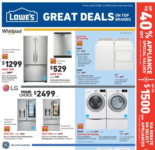lowes mid february weekly ad valid from feb 13 19 2020
