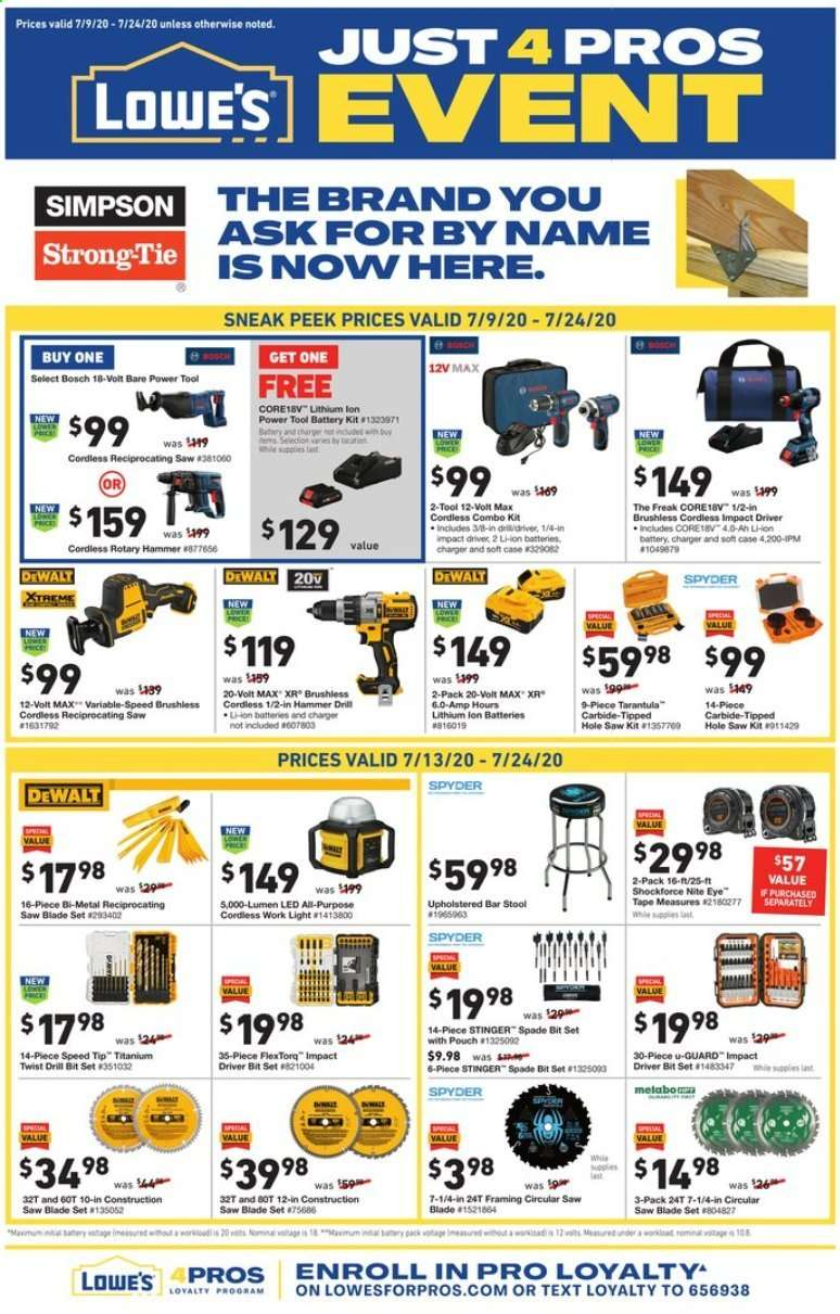 Lowe's July Weekly Ad valid from Jul 9 – 18, 2020 – Hurry Up!