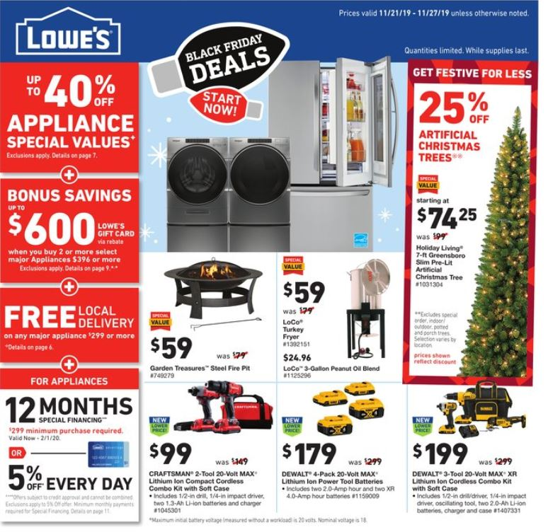 lowes christmas deals weekly ad valid from nov 21 27 2019