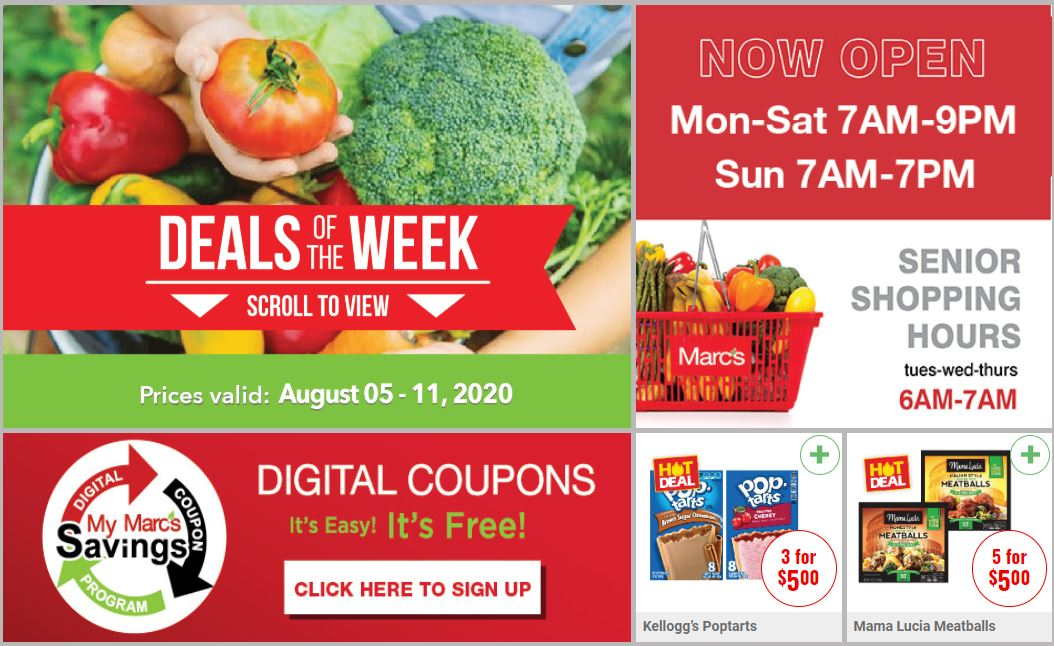 Marc's August Weekly Ad valid from Aug 5 – 11, 2020