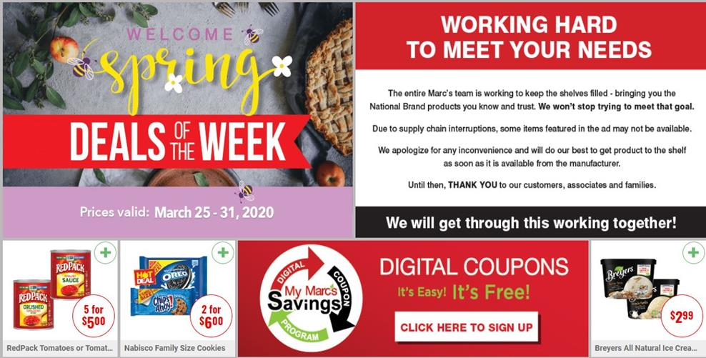 marcs final march weekly ad valid from mar 25 31 2020