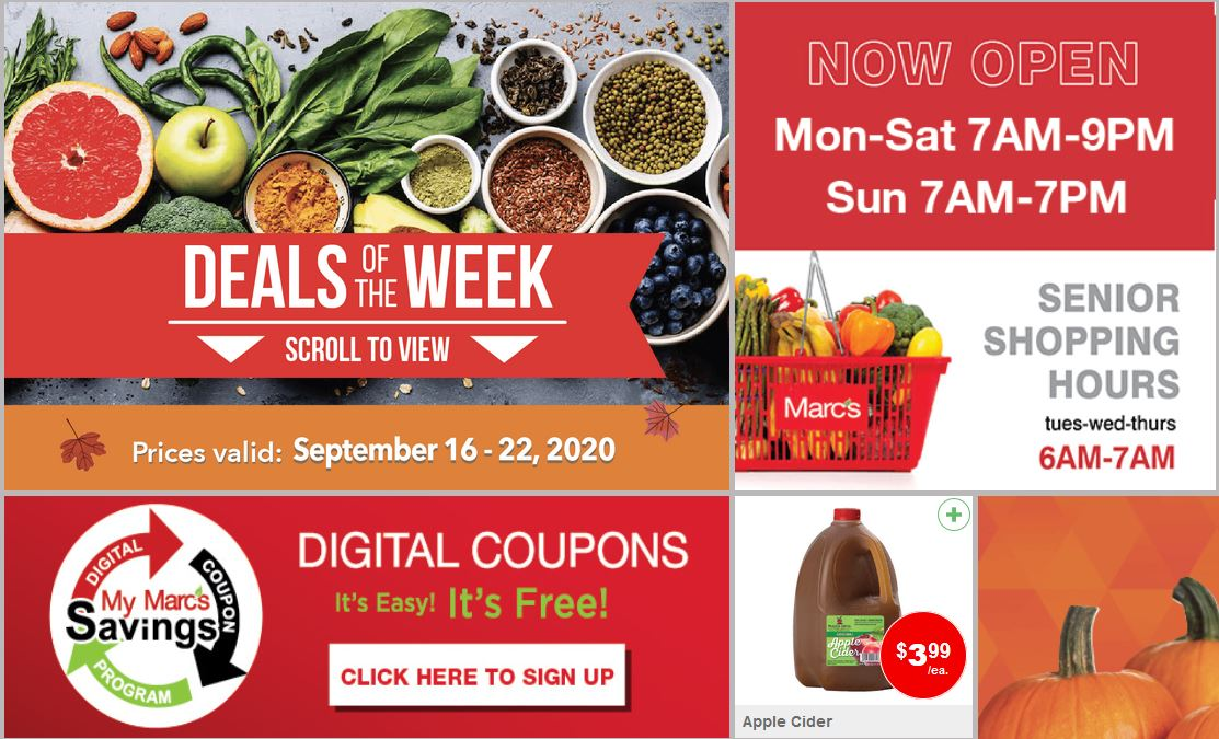 Marc's Weekly September Ad valid from Sep 16 – 22, 2020