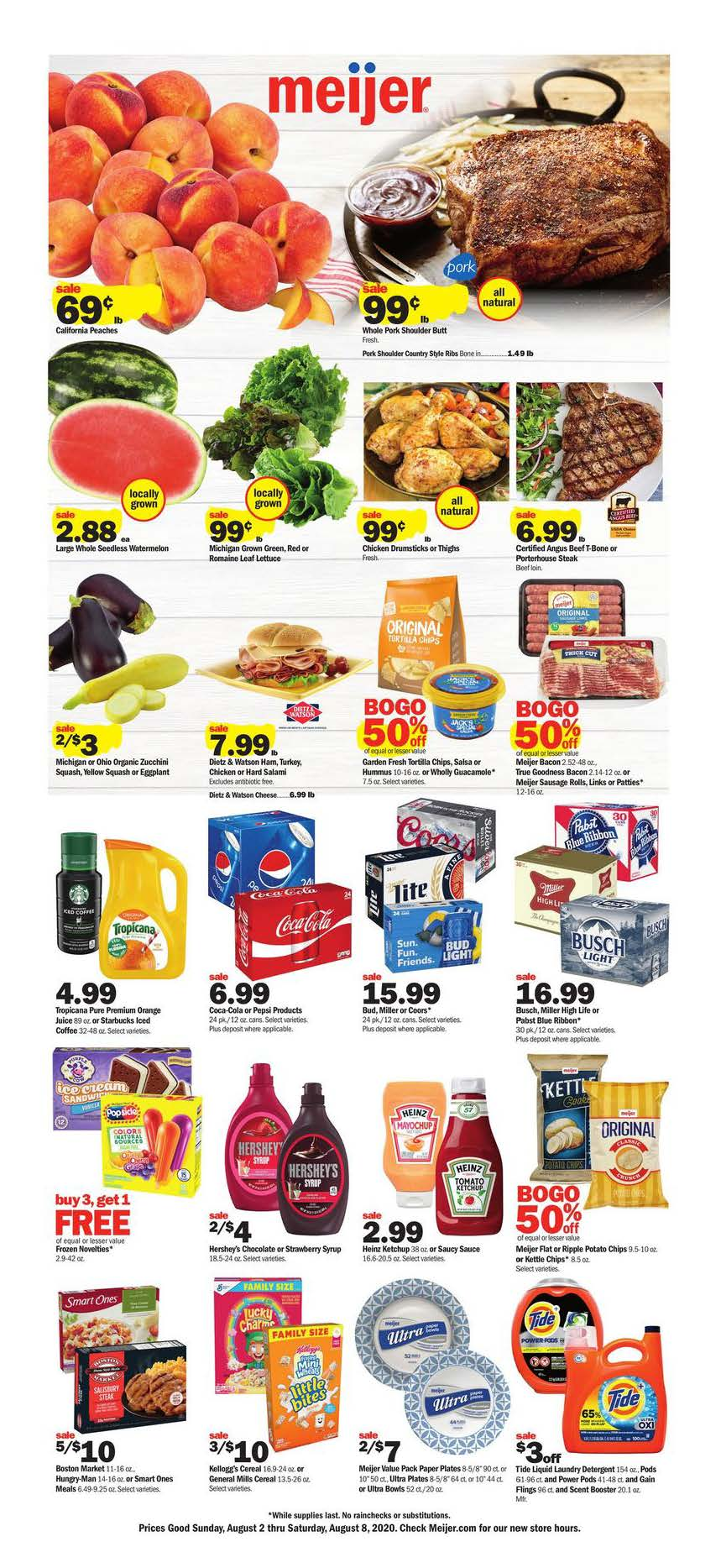 meijer august weekly ad valid from aug 2 8 2020