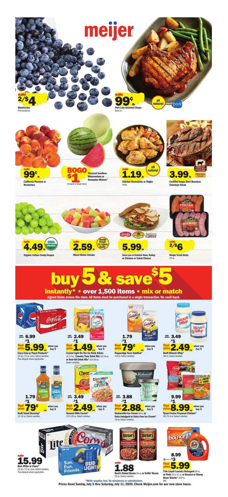 meijer july weekly ad grocery sale valid from jul 5 11 2020