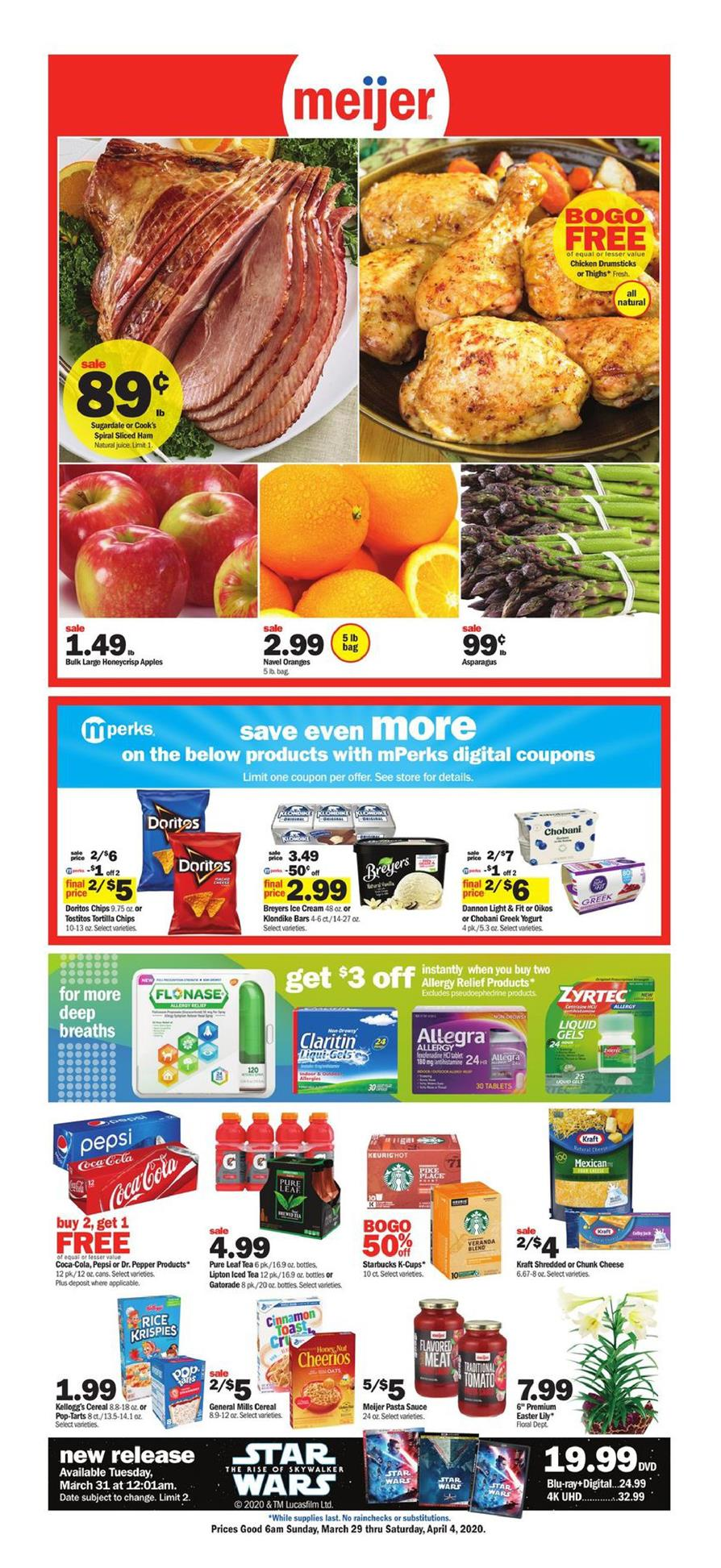 Meijer Final March Weekly Ad valid from Mar 29 – Apr 4, 2020