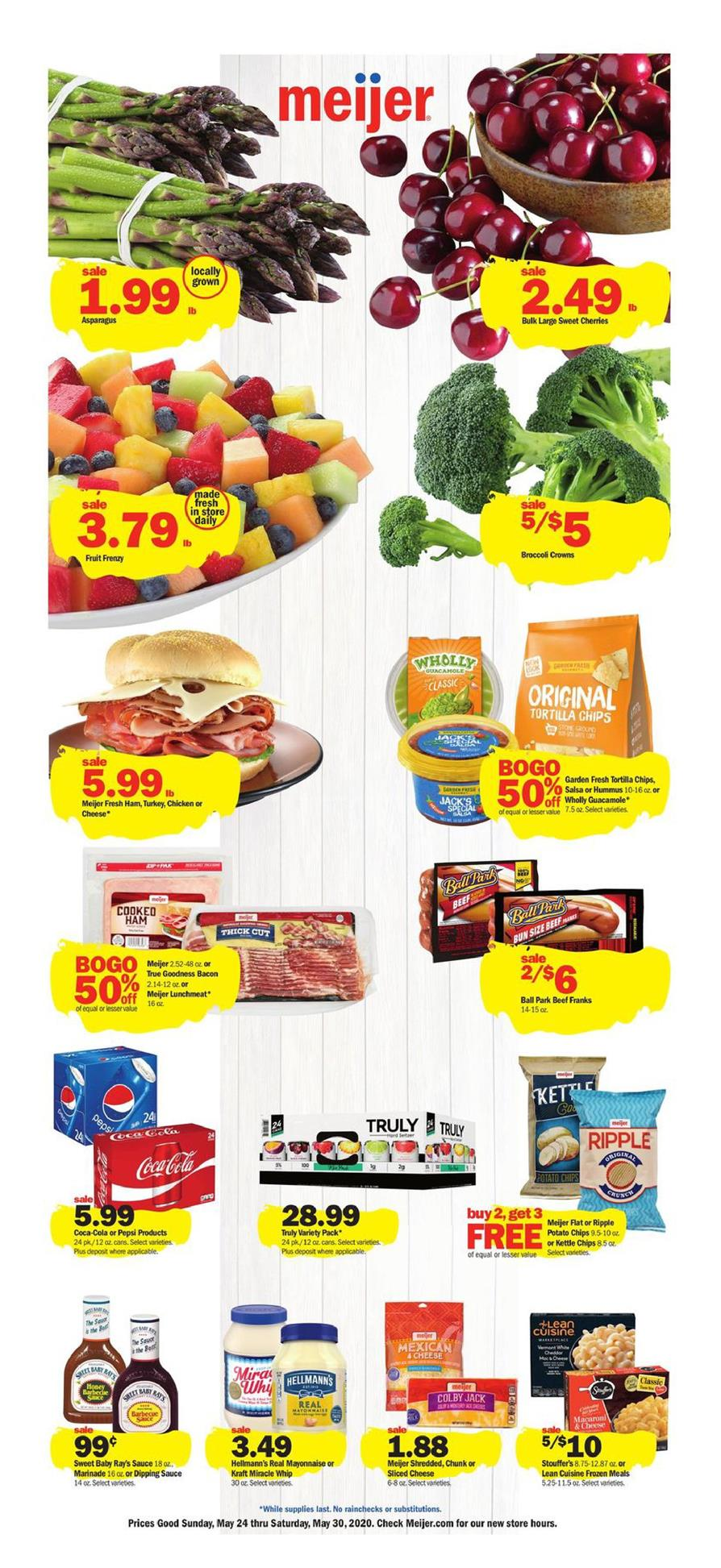 Meijer Final May Weekly Grocery Ad valid from May 24 – 30, 2020