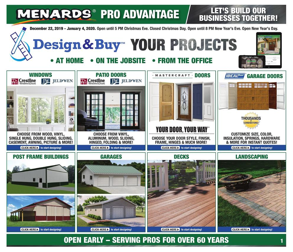menards new year ad valid from dec 22 to jan 4