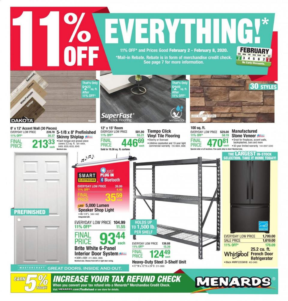 menards february offer ad valid from feb 2 8 2020