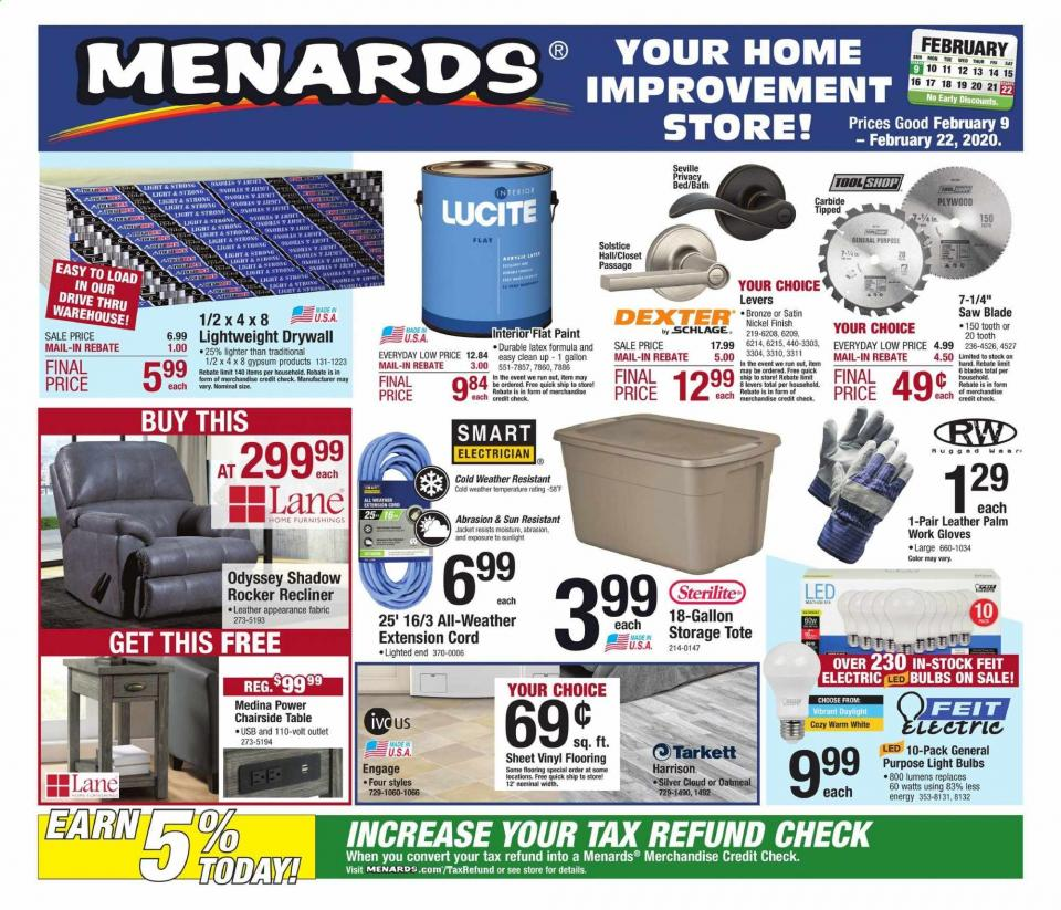 menards february mega sale ad valid from feb 9 22 2020