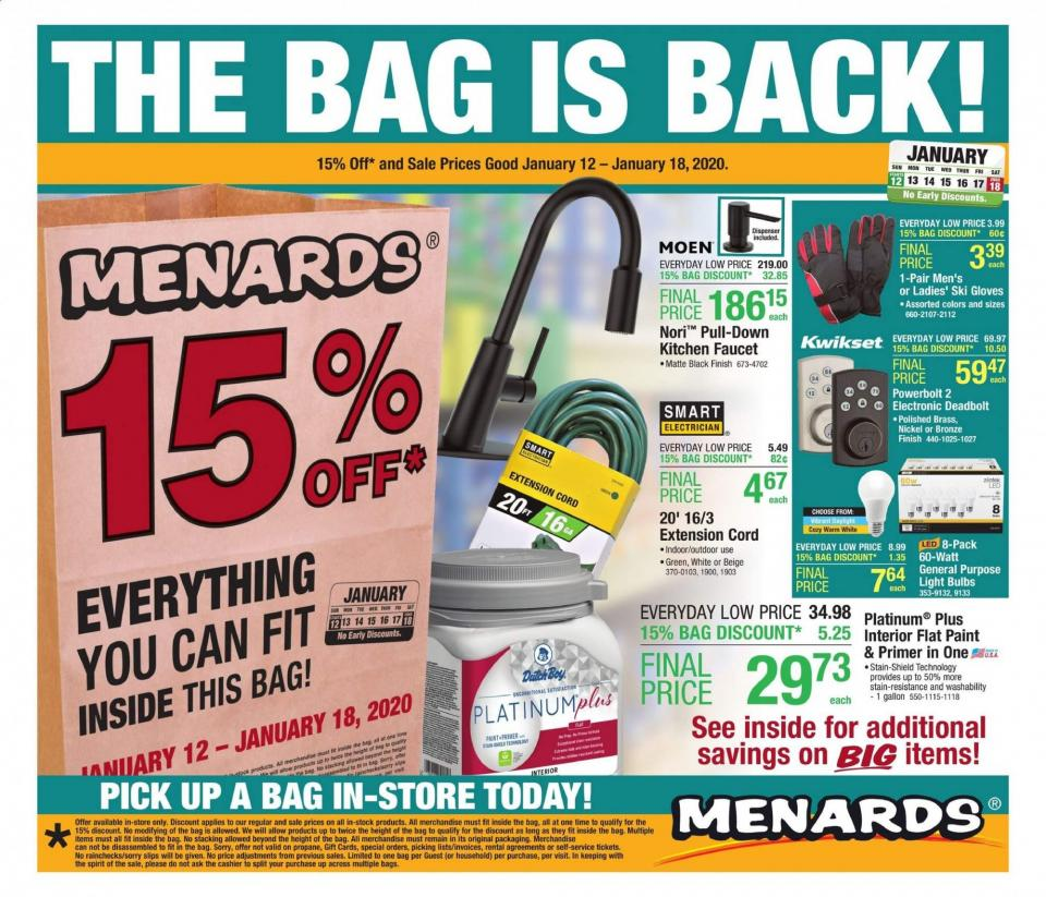 menards mid january weekly sale valid from jan 12 18 2020