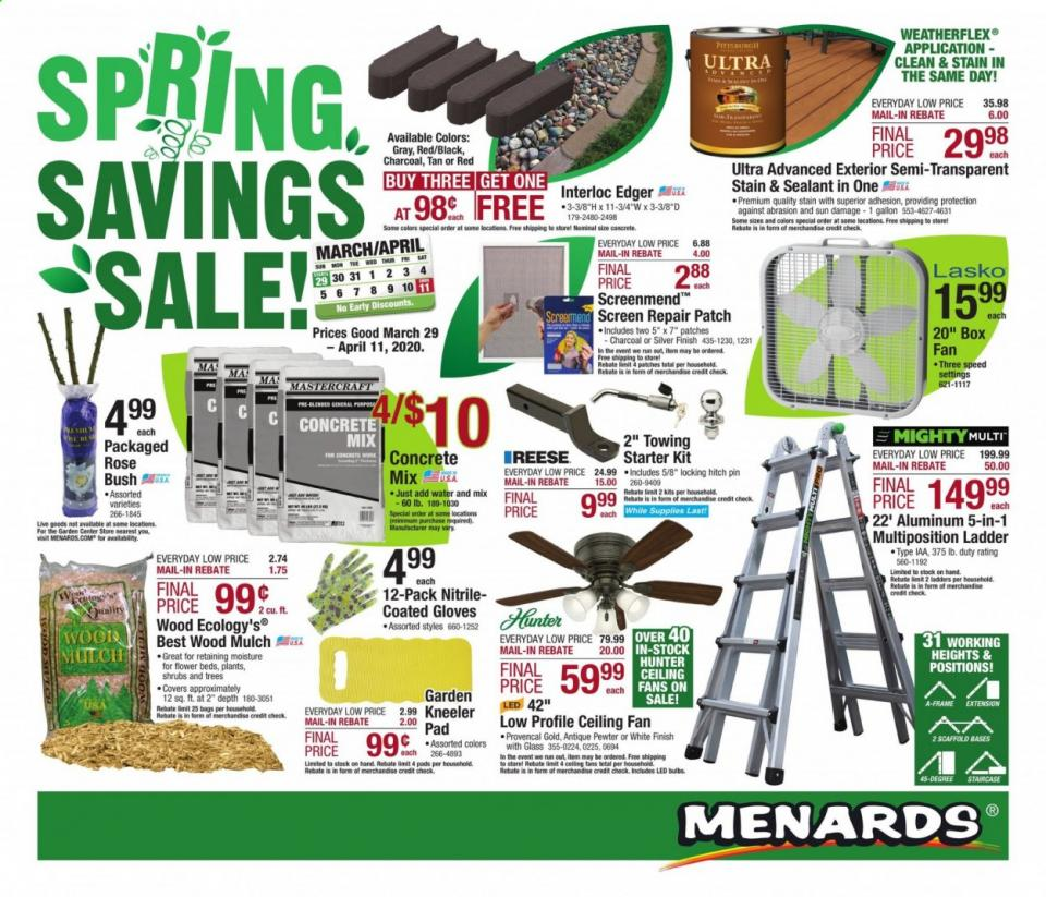 menards april weekly ad valid from mar 29 apr 11 2020
