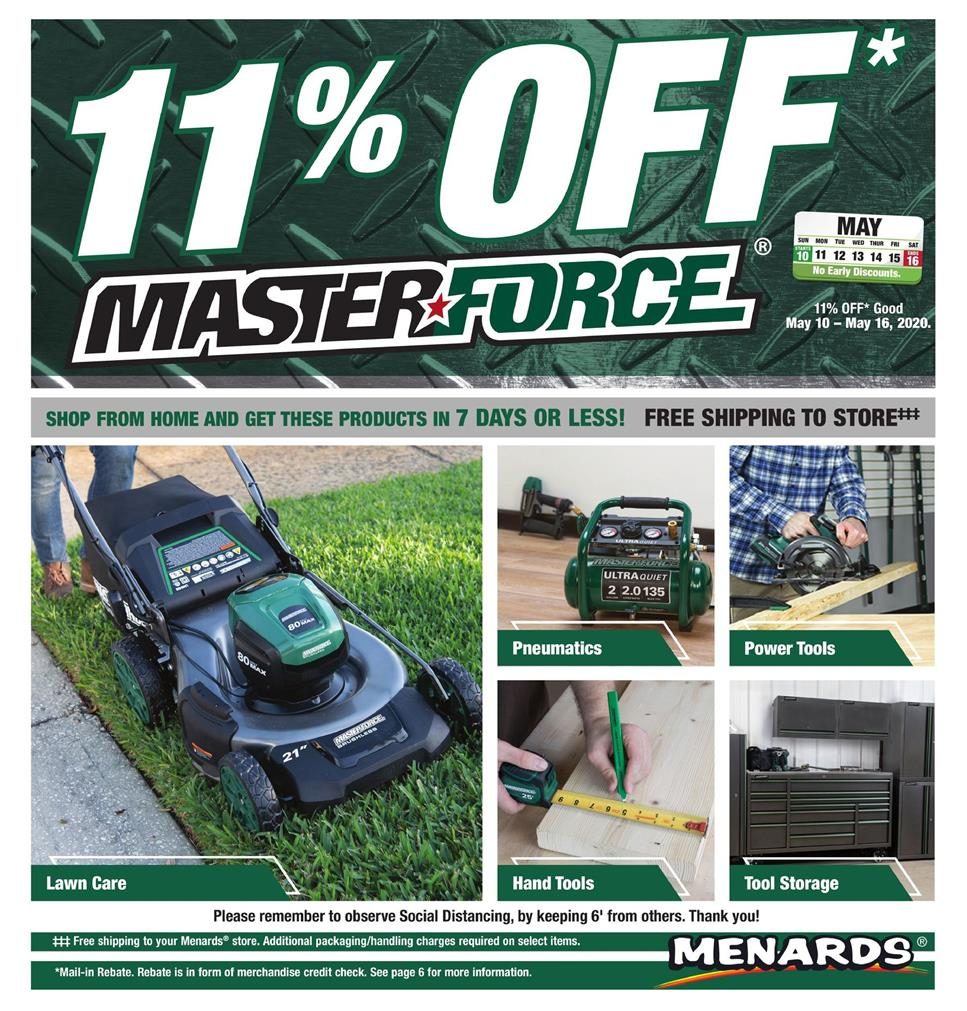 menards ad may 10 2020