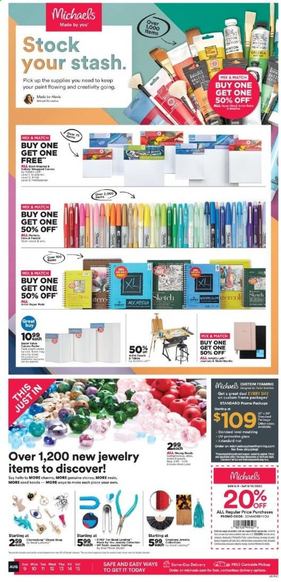 michaels weekly ad aug 9 2020