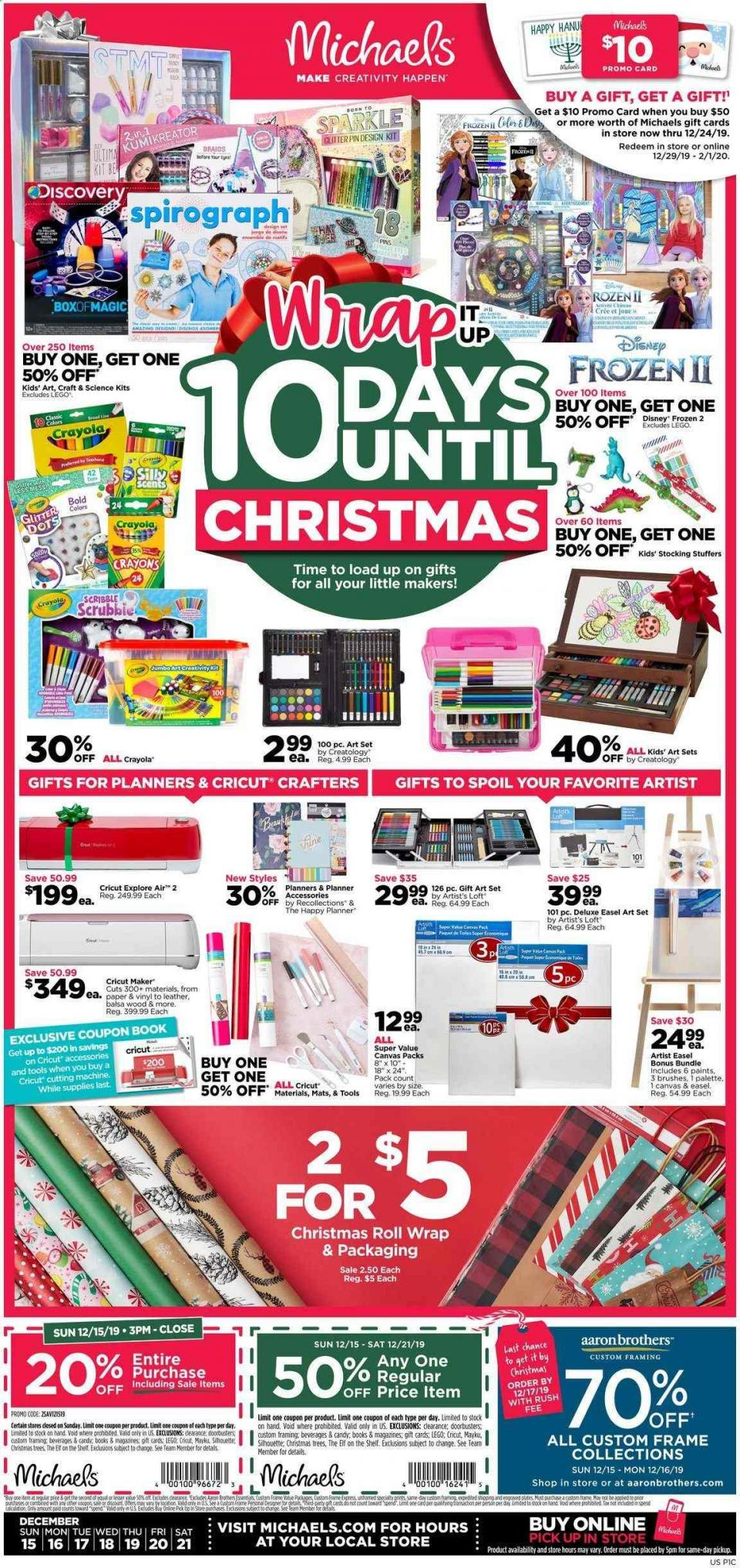 michaels weekly ad dec 15 21 2019